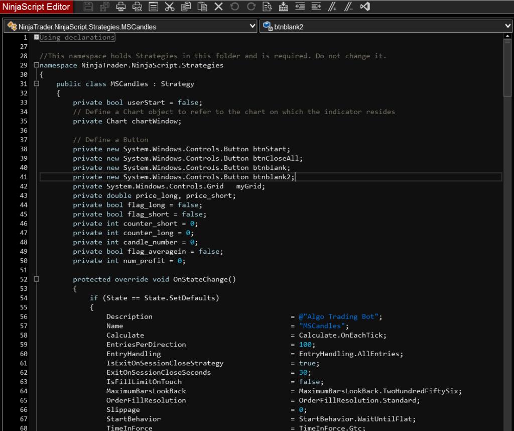 Programming in Ninjatrader 8